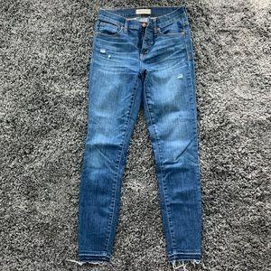 "Madewell 9"" High Riser Skinny Skinny Jeans"